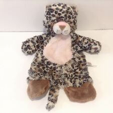 Baby Ganz Flat A Pat Leopard Plush Security Blanket Lovey Pink 16 Inch Cat