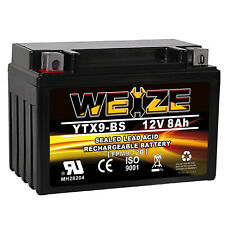 Weize Ytx9-Bs Battery Etx9 Bs For Motorcycle Honda Trx 400Ex Suzuki Gsx-R600 (Fits: Suzuki)
