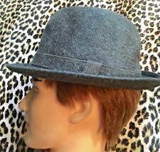 BORSALINO 1960s MEN TRILBY HAT~ GRAY FELT ~MADE IN ITALY~VINTAGE NEW/OLD STOCK~S