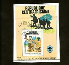 LOT 80866 USED 501  CENTRAL AFRICA SOUVENIR SHEET : SCOUTS