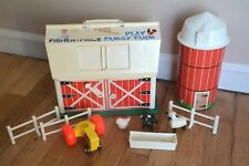 Vintage Fisher Price Little People Play Family Farm Barn #915 with Silo fence