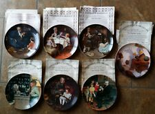 7 Norman Rockwell Plate Collection with certificate of authenticity