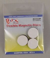 Stix2 Self Adhesive Flexible Magnetic Discs - 6 Magnets Per Pack