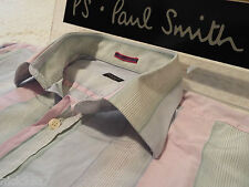 "PAUL SMITH Mens Shirt 🌍 Size 16.5"" (CHEST 46"") 🌎 RRP £95+ 🌏 PASTEL STRIPES"