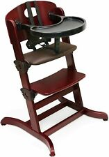 Badger Basket Evolve Convertible Wood High Chair with Tray  Cushion, Cherry  952
