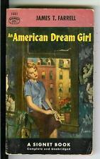 AN AMERICAN DREAM GIRL by Farrell rare US Signet sleaze noir gga pulp vintage pb
