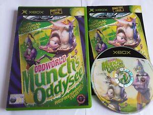 Oddworld Munch's Oddysee Microsoft Xbox Game Complete FREE UK POSTAGE