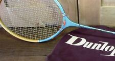 VINTAGE Dunlop MATCH POINT RACCHETTA DA TENNIS RETRÒ & Custodia-shop/visivo/Pub/club Prop