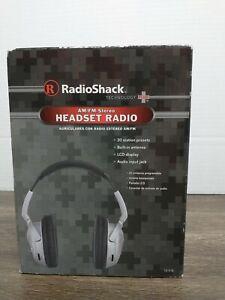 RadioShack Technology Plus 12-518 AM/FM Stereo Headset Radio Brand New