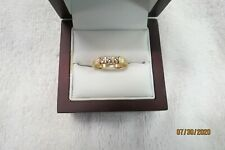 LADIES 14K YELLOW GOLD RING WITH 3 DIAMONDS 2.9 GRAMS SIZE 5-1/2