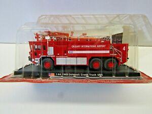 Amercom 1:64 Scale Die Cast Model 1989 Oshkosh Crash Truck Calgary Int. Airport