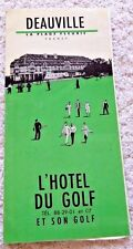 VINTAGE PAMPHLET DEAUVILLE FRANCE HOTEL DU GOLF PARISIAN RIVIERA w EPHEMERA 1964