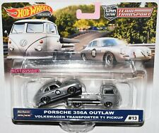 HOT WHEELS 2019 CAR CULTURE TEAM TRANSPORT CASE E PORSCHE 356A OUTLAW VW PICKUP