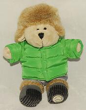 STARBUCKS - 2011 - BEARISTA BEAR in Green PUFFER JACKET & Fuzzy HAT *COLLECTIBLE