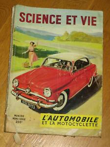 Science et Vie Hors Série 1954-1955 L'automobile et la motocyclette