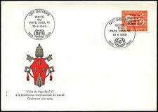 Suiza 1969 el papa Pablo VI visita FDC Primer Día Cubierta #C37910