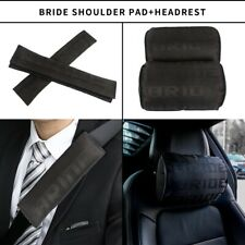 X2 NEW JDM Bride Black Gradation Neck Headrest pillow & Car seat belt cover Set