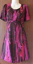 Per Una fully lined  black/maroon dress  size 12