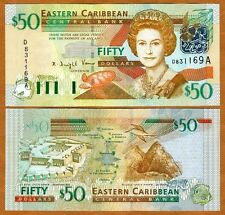 Eastern East Caribbean $50 (2003) Antigua, P-45a, UNC > Scarce