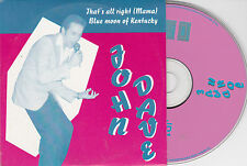 CD CARTONNE CARDSLEEVE JOHN DAVE CHANTE ELVIS PRESLEY 2T DE 1995