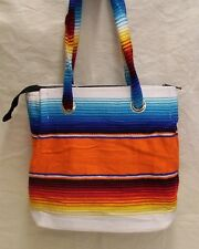 Serape Purse or Tote Bag Ladies Southwest Mexican Style Colorful Orange