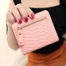 Women Crocodile Crown Long Purse Wallet Card Holder Handbag Bag Pink Gift