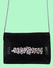 INC INTERNATIONAL CONCEPTS BLAAIRE Black Leather & Rhinestones X-Body Bag $89