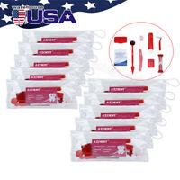 10Pack Dental Orthodontic Toothbrush Travel Kit Ties Interdental Brush Floss Set