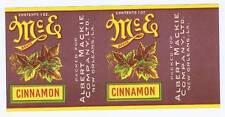 McE cinnamon, vintage can label, Albert Mackie co. New Orleans LA