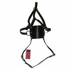 TheSexShopOnline Bondage Solid Muzzle Ball Gag Head Harness With Neck Restraint