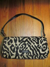 AUTHENTIC KATE SPADE ANIMAL PRINT SHOULDER BAG/PURSE FABRIC W/ LEATHER TRIM