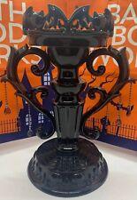 Bath & Body Works Gothic Halloween Candelabra Candle Holder in Black