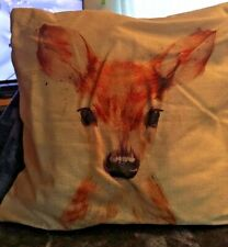 "Digital Printed  Deer Themed Square Cushion Cover(18"" x 18"")"