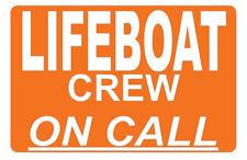 Bote salvavidas redondo en llamada dashcard RNLI de llamada de emergencia fuera de búsqueda y rescate 4X4