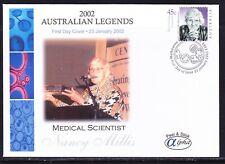 "Australia 2002 ""Alpha"" Nancy Millis First Day Cover Apm34330 Peel Stick Variety"