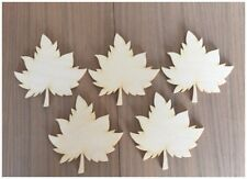 12 Pc Maple Leaves Maple - Leaf Unfinished Wood Laser Wood Cut Shapes Ornaments