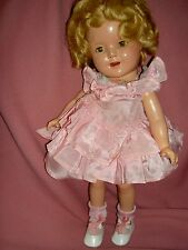 13 in. Ideal composition Shirley Temple doll, c.1930s orig. wig (needs some TLC)