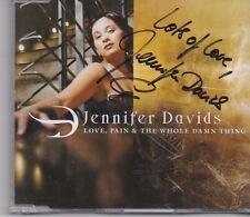 Jennifer Davids-Love Pain&The Whole Damn Thing cd maxi single signed