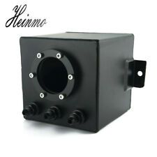 2L Racing Car Fuel Surge Tank With AN6 Fitting For 044 External Fuel Pump  Black