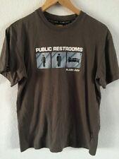 Plain Lazy T Shirt Top Khaki Public Restroom Logo Men's Size S <R5553