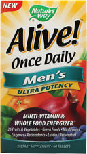 Alive Once Daily Men's Multi-Vitamin Ultra Potency, Nature's Way, 60 tablet