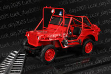 NOREV Fire Department Willys Jeep 1988 1/18 Diecast Model