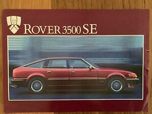 Vintage Rover 3500 Sales  Brochure Specifications Etc Rare