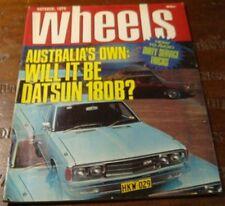 1975.WHEELS.KINGSWOOD.ALFETTA GT.SAAB.Datsun 180B.Renault 12.Ford TRANSIT CAMPER