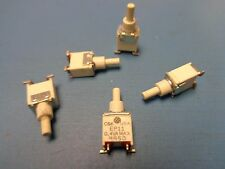 5) C&K EP11SD1SAKE PUSH BUTTON SWITCH SPST-NO OFF-MOM 0.4VA 20V R/A SURFACE MONT