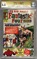 FANTASTIC FOUR ANNUAL #1 CGC 6.5 SIGNATURE SERIES SIGNED STAN LEE DICK AYERS
