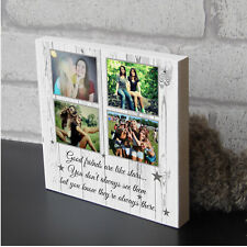 Personalised Best Friend Friends Are Like Stars Plaque Wooden Block With Photo