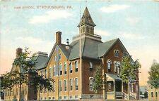 c1910 Postcard; High School, Stroudsburg PA Monroe County Posted