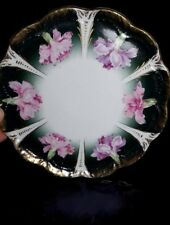 Vintage Hand Painted Floral Motif Plate Gold Trimmed Carnation Germany