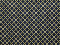 "Upholstery Chenille Navy Diamond Drapery home fabric by the yard  57"" Wide"